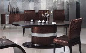 silver dining table and chairs in italian style with italian