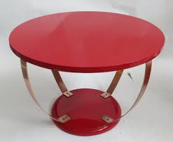 red lacquer american art deco coffee table modernism