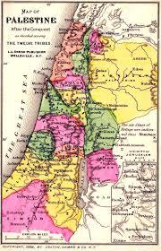 Jordan River Map Maps 12 Tribes Of Israel