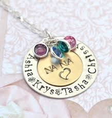personalized mothers day necklace sale grandmother pendant with birthstones family necklace