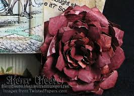 Paper Flowers Video - into the looking glass with a video on making paper flowers