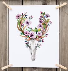 Flower Promotion Codes - instant download elegant watercolor floral skull get free