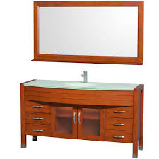 cherry bathroom mirror daytona 60 single bathroom vanity in cherry with green glass top