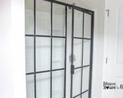 Industrial Shower Door Remodelaholic Real Life Rooms A Modern Exterior Curb Appeal Update