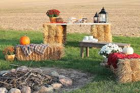 harvest decorations fall decorating ideas a harvest bonfire party