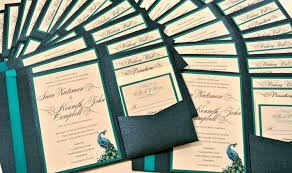 wedding pocket invitations wedding invitation ideas modern peacock wedding invitations