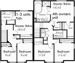 three plex floor plans 15 best townhouse plans images on pinterest apartment plans