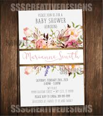 baby shower invitation floral vintage elegant summer spring
