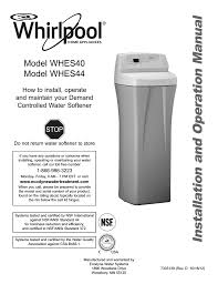 Whirlpool Whes44 Specifications