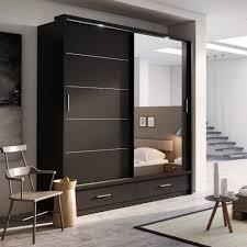 Single Mirror Closet Door Astonishing Contractors Wardrobe In Serenity Mirror Espresso Wood