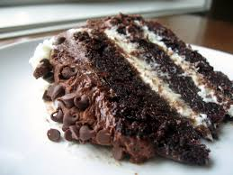 the nonpareil baker chocolate layer cake with cream cheese