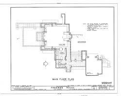 frank lloyd wright inspired house plans frank lloyd wright freeman house plan los angeles 1924 frank