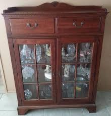 3 door display cabinet lexington bob timberlake cherry china display cabinet 2 door 2