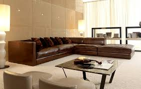 Modern Leather Sofas For Sale Excellent Modern Brown Leather Sectional Sofa S3net Sofas Sale