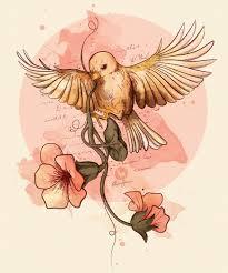 Flower And Bird Tattoo - bird u0026 flowers by pako garcia via behance earth without art