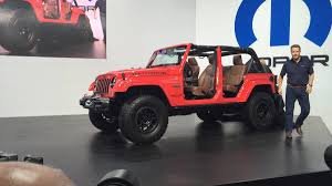 modified jeep wrangler jeep wrangler red rock concept at 2015 sema show