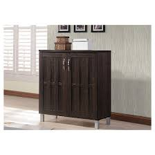 excel modern and contemporary sideboard storage cabinet dark