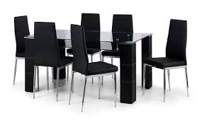 Black Glass Dining Table And 4 Chairs Auckland Glass Dining Table 6 Chairs Thanet Beds