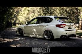 wrx subaru stance subaru sti bagged work equip stance fitment airsociety 014