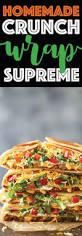 thanksgiving raps homemade crunch wrap supreme damn delicious