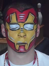 iron man face paint by dragonhuntr on deviantart