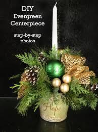 how to make an evergreen centerpiece diy rachel