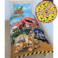 Childrens Single Duvet Covers Dinotrux Mechanix Single Duvet Cover Set Childrens Bedding New