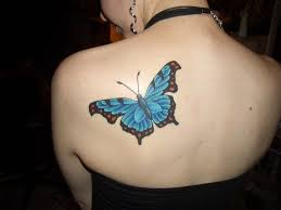 beautiful butterfly on shoulder cool tattoos