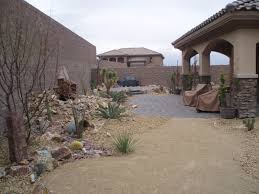 desert landscape front yard ideas with rocks and dunes front with