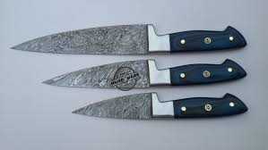kitchen knives canada lot of 3 pcs damascus kitchen chef s knife custom handmade knife
