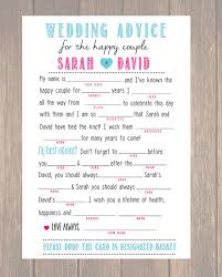 marriage advice cards for wedding wedding advice card wedding mad libs diy printable marriage