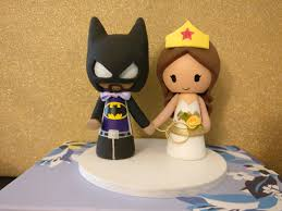 woman cake topper the wedding cake topper is finished batman and woman