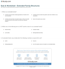 quiz u0026 worksheet extended family structures study com