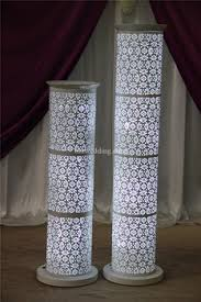 wedding arches and columns wholesale ida led light wedding pillar column for wedding aisle stand