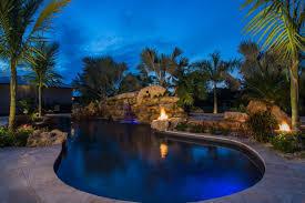 pools with waterfalls tropical modern caribbean natural lagoon pool lucas lagoons