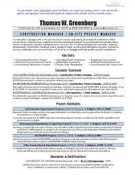 Sample Resume For Construction Manager Sample Cv Engineering Project Manager