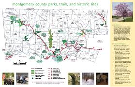 Pennsylvania State Parks Map by Parks Trails U0026 Historic Sites Montgomery County Pa Official