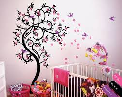 Cherry Blossom Tree Wall Decal For Nursery Cherry Blossom Tree Wall Decal Flower Tree Nursery Vinyl Decor