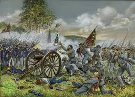 Battle of Gettysburg   American Civil War          Britannica com Encyclopedia Britannica The few Confederate troops who reached the objective of Pickett     s Charge on Cemetery Ridge were easily