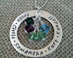 grandkids necklace grandkids necklace etsy