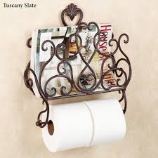 decorations hanging tissue holder with magnetic catch feature