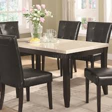 Granite Dining Table Set by Finish U0026 White Faux Marble Top Dining Table W Options