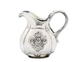 fleur de lis pitcher small designer aluminum gifts by arthur