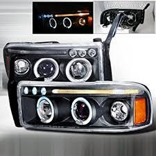 halo headlights for dodge ram 1500 amazon com 94 95 96 97 98 99 00 01 dodge ram halo projector