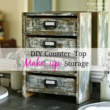 countertop makeup storage bathroom countertop storage custom solid