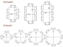 8 person round table size round table size for 6 unbelievable 8 person sizes dining dimensions