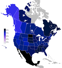 Map Of North America States by Religiosity In North America 2001 Maps Pinterest