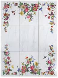 floral tile mural u0026 accessories decorated bathroom blog