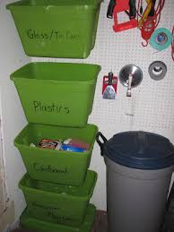 pegboard storage containers ideas for home recycling bin and containers where to place them