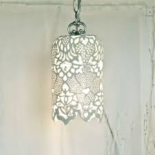 Ceramic Pendant Lights by Waterlilyjewels Carved White Porcelain Pendant Lamp This Hand